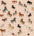horses in different colors vector image vector image