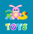 kids toys set colorful isolated icon vector image