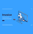 landing page invoice electronic receipt vector image