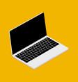 laptop device isometric mockup 3d flat vector image