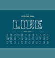 line bold font and alphabet script and number vector image vector image