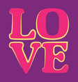 love word happy valentines day greeting card vector image vector image