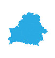 map of belarus high detailed map - belarus vector image vector image