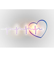 medical symbol ekg blue heart vector image vector image