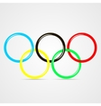 olympic rings vector image vector image