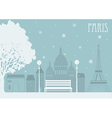 Paris in the winter vector image vector image