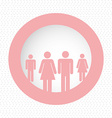 people pictogram symbol vector image