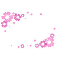 pink and violet flowers and dots on white vector image vector image