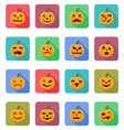 pumpkins for halloween flat icons 20 vector image vector image
