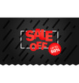 sale banner template sale off up to 50 percent vector image vector image
