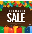 Sale Poster with percent discount Oak colorful vector image