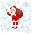 Santa Claus isolated on white Christmas background vector image