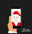 santa makes self on a dark background vector image