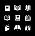 set glyph icons book vector image vector image