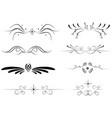 set of black delimiters - black decorative vector image vector image