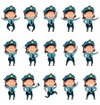 Set of police women flat icons2 vector image vector image
