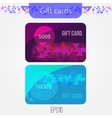 Set of triangle gift cards with Abstract mosaic vector image vector image