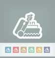 ship travel vector image