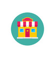 Shop house build - concept icon in flat graphic
