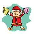Small Santa with mail Christmas theme vector image