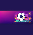 soccer camp concept vector image vector image
