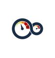 speedometer automotive logo icon design vector image vector image