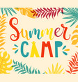 summer camp handdrawn lettering vector image vector image