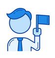 team leader line icon vector image vector image