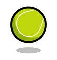 tennis sport ball logo line 3d icon vector image