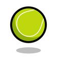 tennis sport ball logo line 3d icon vector image vector image