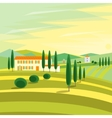 Tuscany Rural Landscape with Houses vector image