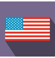 usa flag flat icon vector image vector image