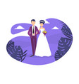 wedding day happy romantic just married couple vector image vector image
