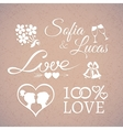 Wedding or Valentines Day design love elements vector image