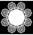 white lace doily vector image vector image