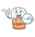 With clock easter cake character cartoon