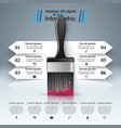 brush icon business infographics vector image