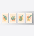 abstract botanical background decorative vector image