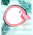 abstract tropical background with flamingo and vector image vector image