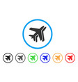 airlines rounded icon vector image vector image