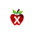 apple letter x logo design template vector image vector image