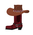 australian hat and crocodile skin boots cowboy vector image vector image