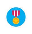 award medal - concept colored icon in flat graphic vector image vector image