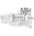baby bottle warmers text word cloud concept vector image vector image