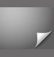 bending paper corner element on transparent vector image vector image