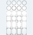 big set decorative rectangle square round vector image