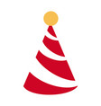 birthday hat symbol vector image