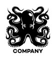 black octopus logo vector image