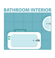 blue bathroom interior icon view from above vector image vector image