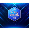 Blue Christmas card Abstract striped background vector image vector image